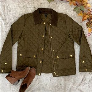 🌬 J. Crew Olive Quilted Field Jacket 🌬